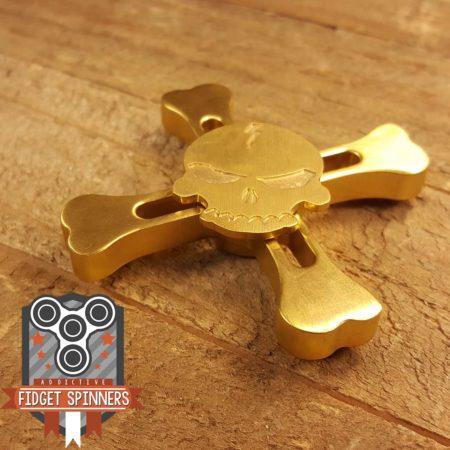 Brass Skull Crossbones Fidget Spinner