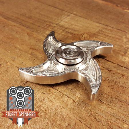 EDC Aluminum 4 Point Shuriken Fidget Spinner with Caps
