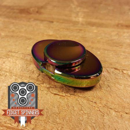 EDC Oval Dual Bar Fidget Spinner (With Keychain Hole)
