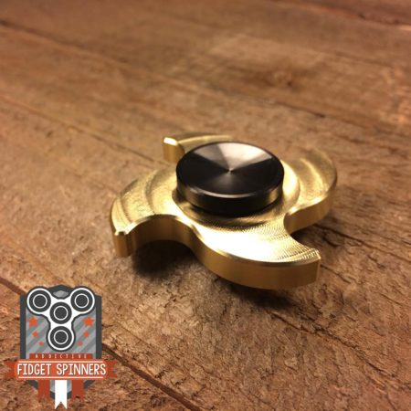 EDC Mini Brass 4 Point Shuriken Fidget Spinner