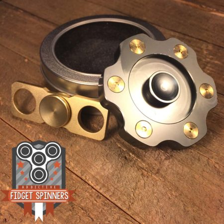 EDC 6 Point Shooter and Tandem Dual Fidget Spinner Bundle
