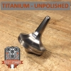 EDC Strato Faceted Metal Top (Titanium Unpolished)labeled