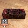 EDC Aluminum Infinity Cube Fidget Toy - Black with Red Splatter (2)