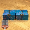 EDC Aluminum Infinity Cube Fidget Toy - Blue with Pink Splatter (2)