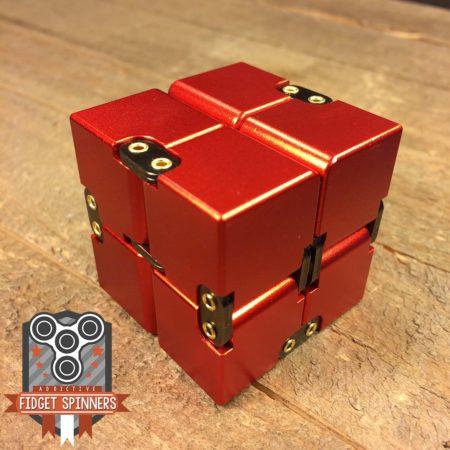 EDC Aluminum Infinity Cube Fidget Toy (Red 1)
